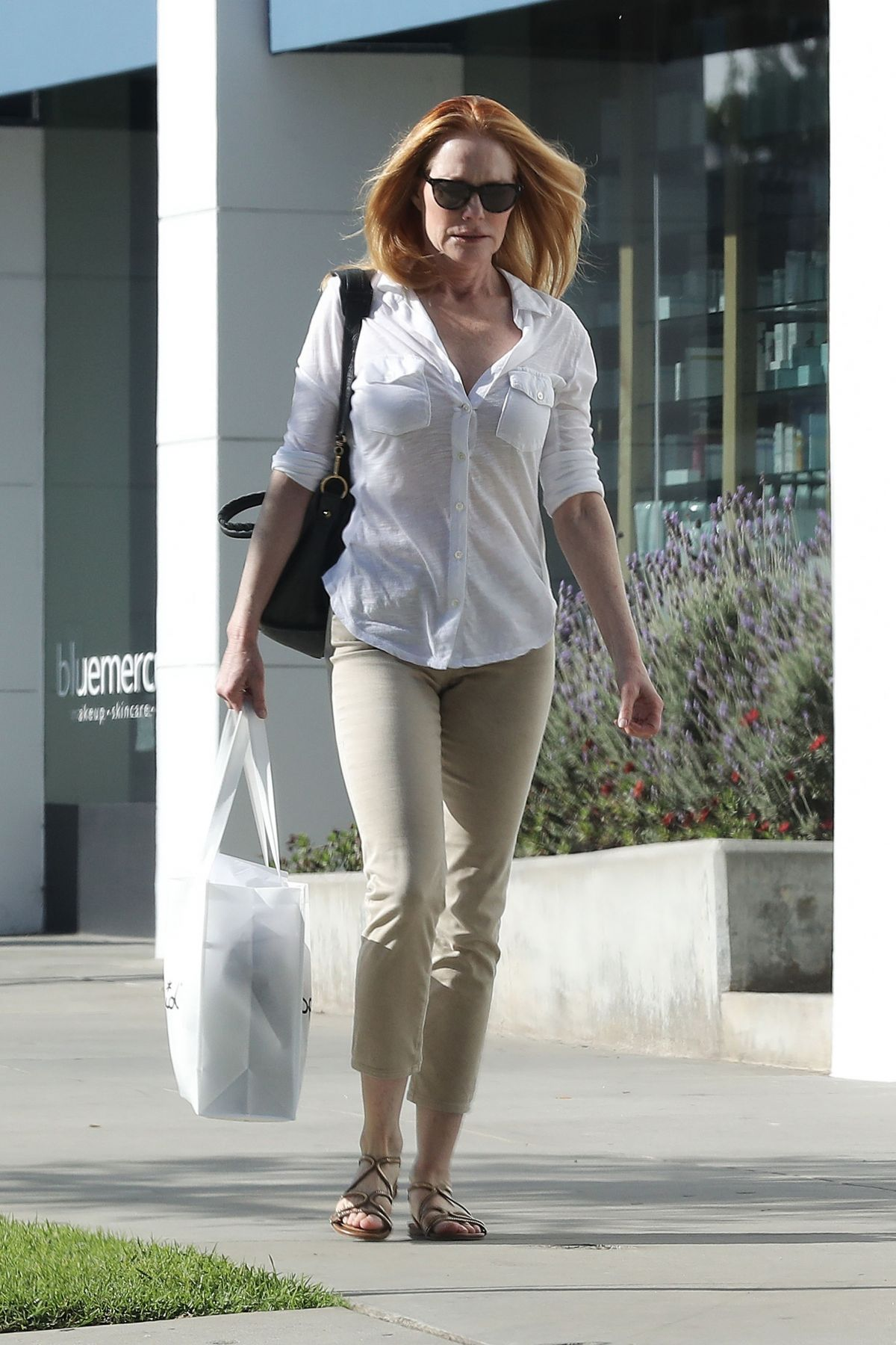 Marg helgenberger casual style shopping at splendid in santa monica - 2019 year