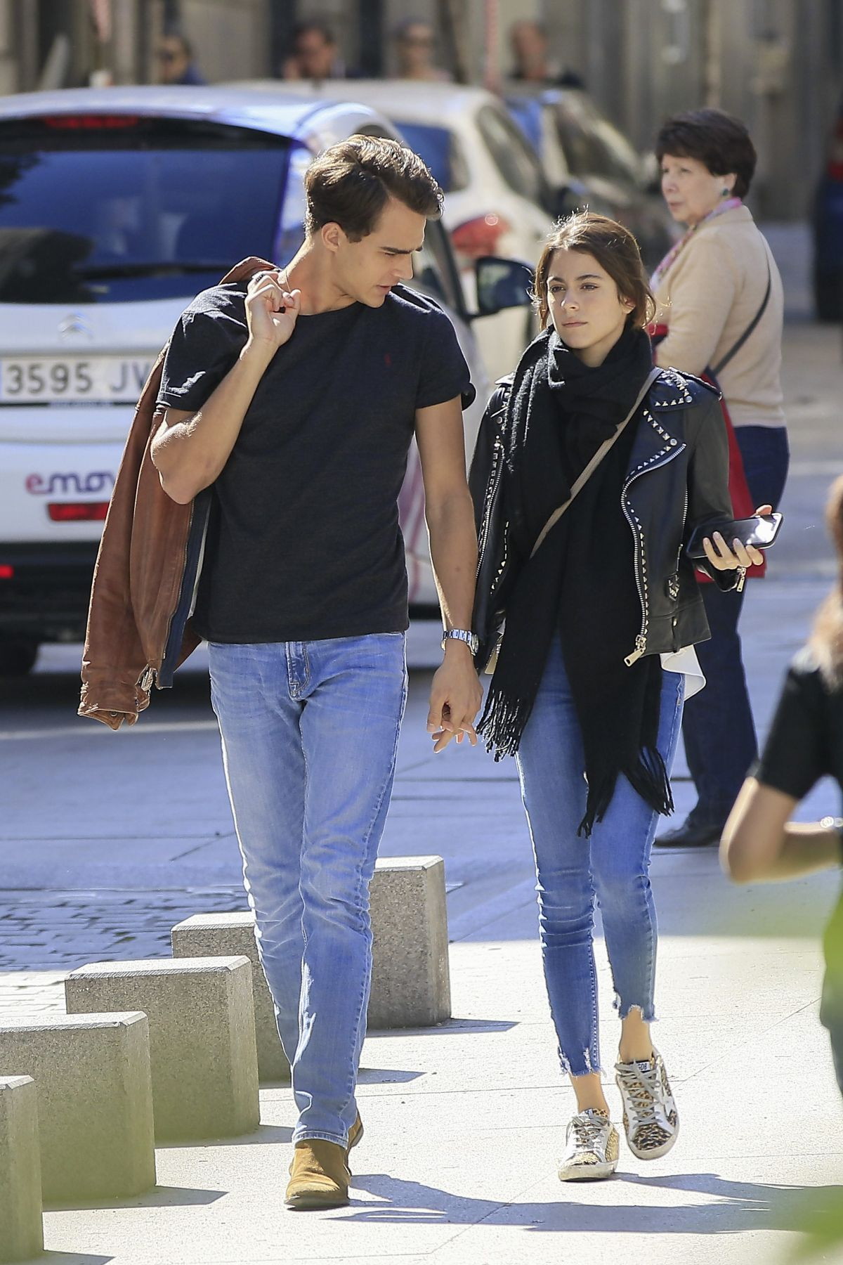 MARTINA STOESSEL and Pepe Barroso Jr Out in Madrid 03/20/2017