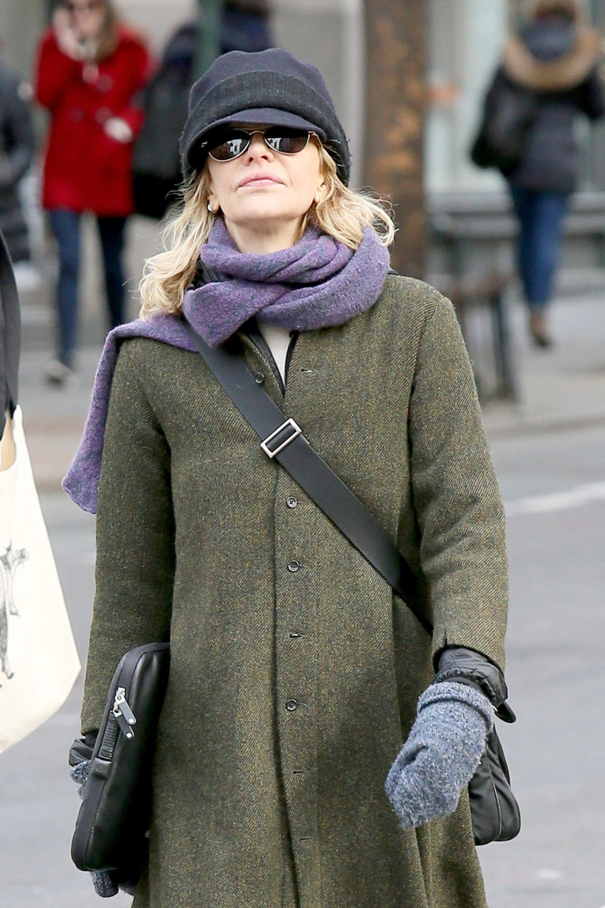 MEG RYAN Out and About in New York 03/06/2017