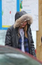 MELISSA BENOIST and Chris Wood Walks Her Dogs in Vancouver 03/19/2017