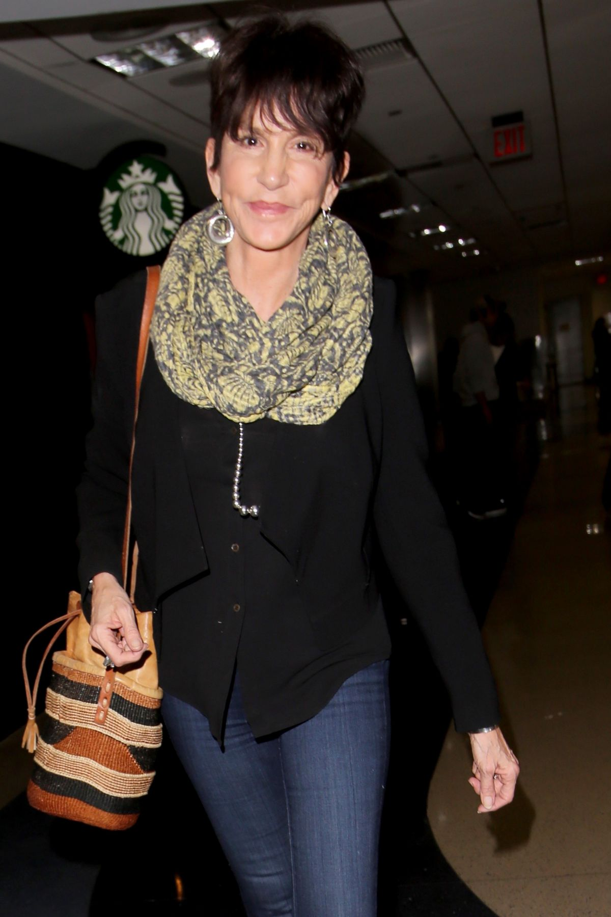 MERCEDES RUEHL at LAX Airport in Los Angeles 03/06/2017