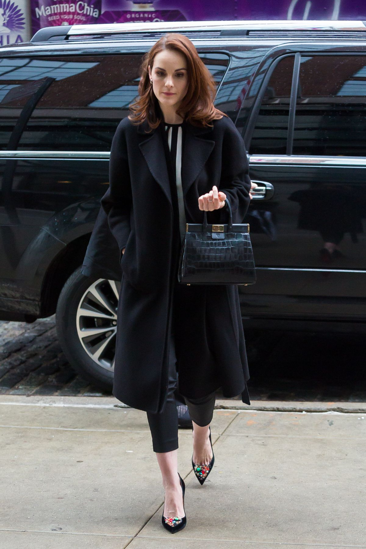 MICHELLE DOCKERY Arrives at Her Hotel in New York 03/08/2017