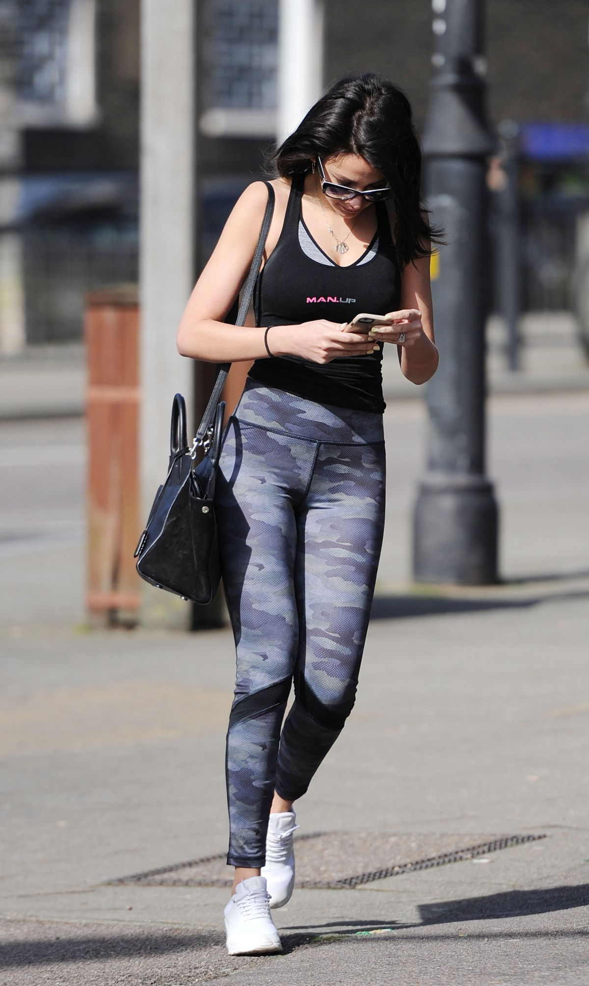 MICHELLE KEEGAN in Tights Out and About in Essex 03/13 ...