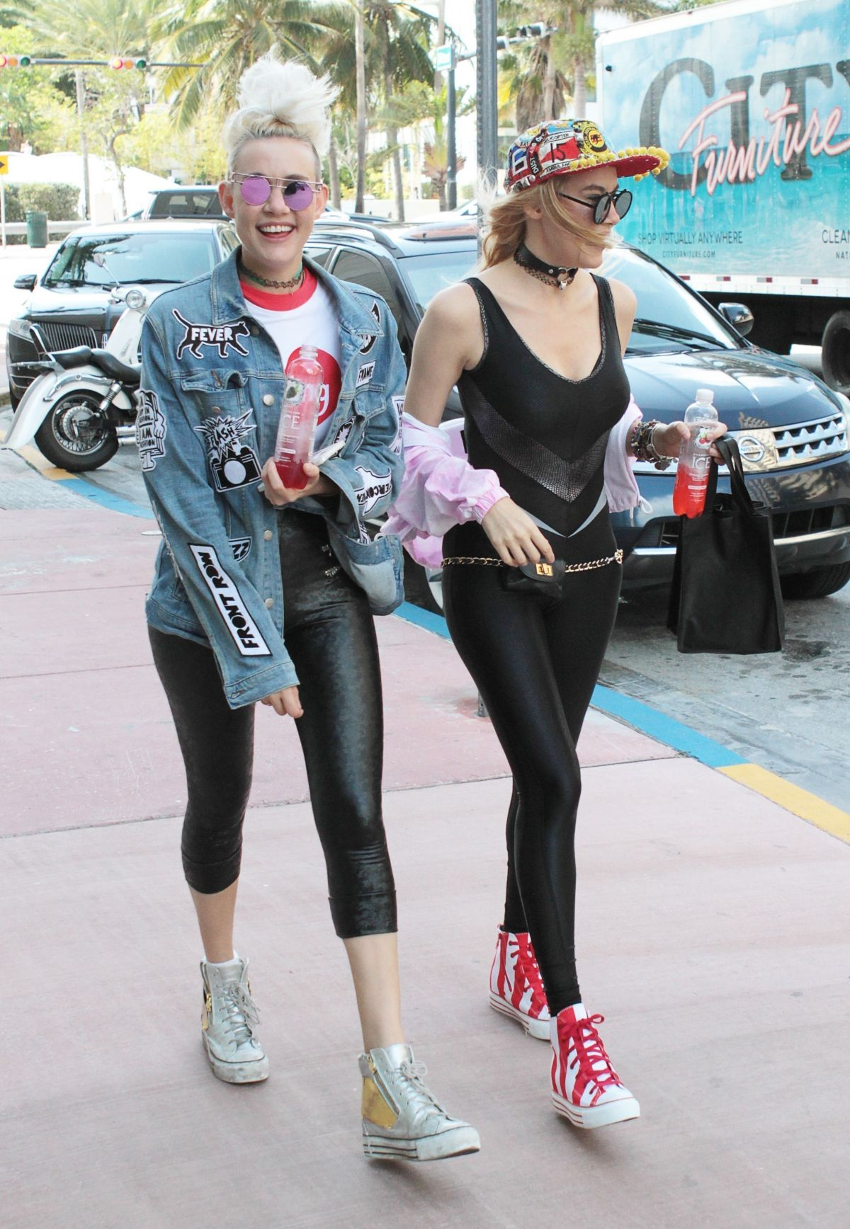 miriam and olivia nervo leaves their hotel in miami 0323