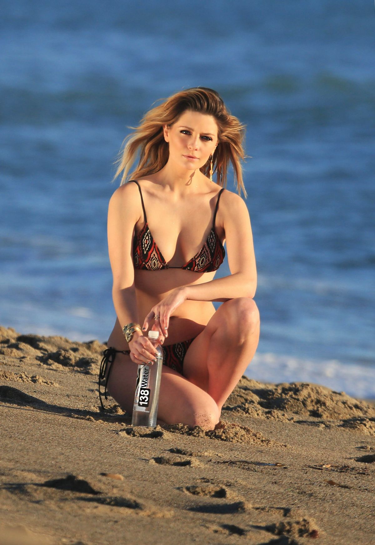 MISCHA BARTON in Bikini on the Set of 138 Water Photoshoot ...