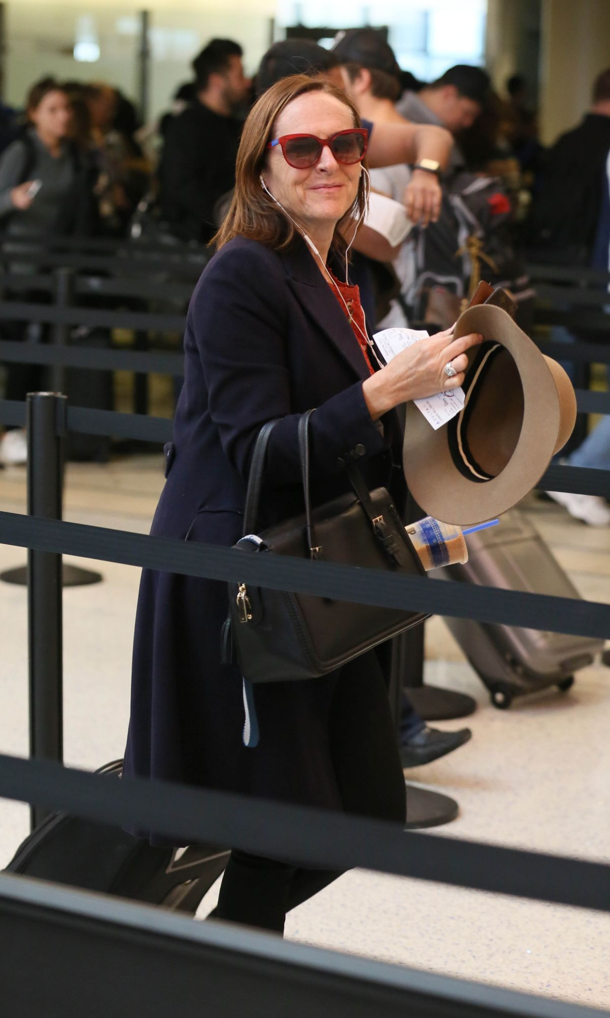 MOLLY SHANNON at LAX Airport in Los Angeles 03/08/2017