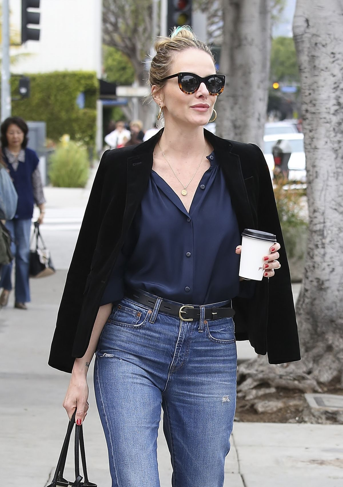MONET MAZUR Out for Coffee in Los Angeles 03/22/2017