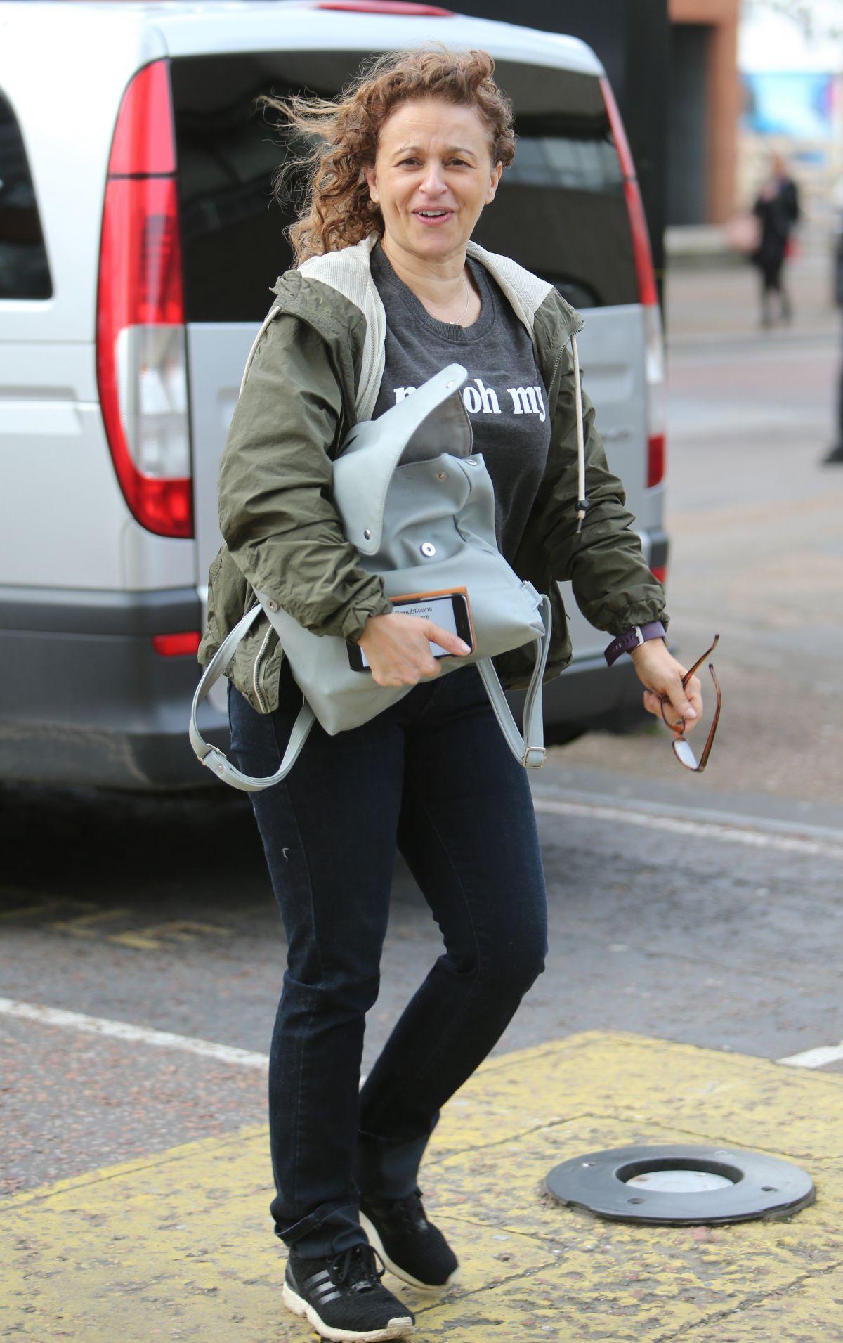 NADIA SAWALHA Leaves ITV Studios in London 03/07/2017