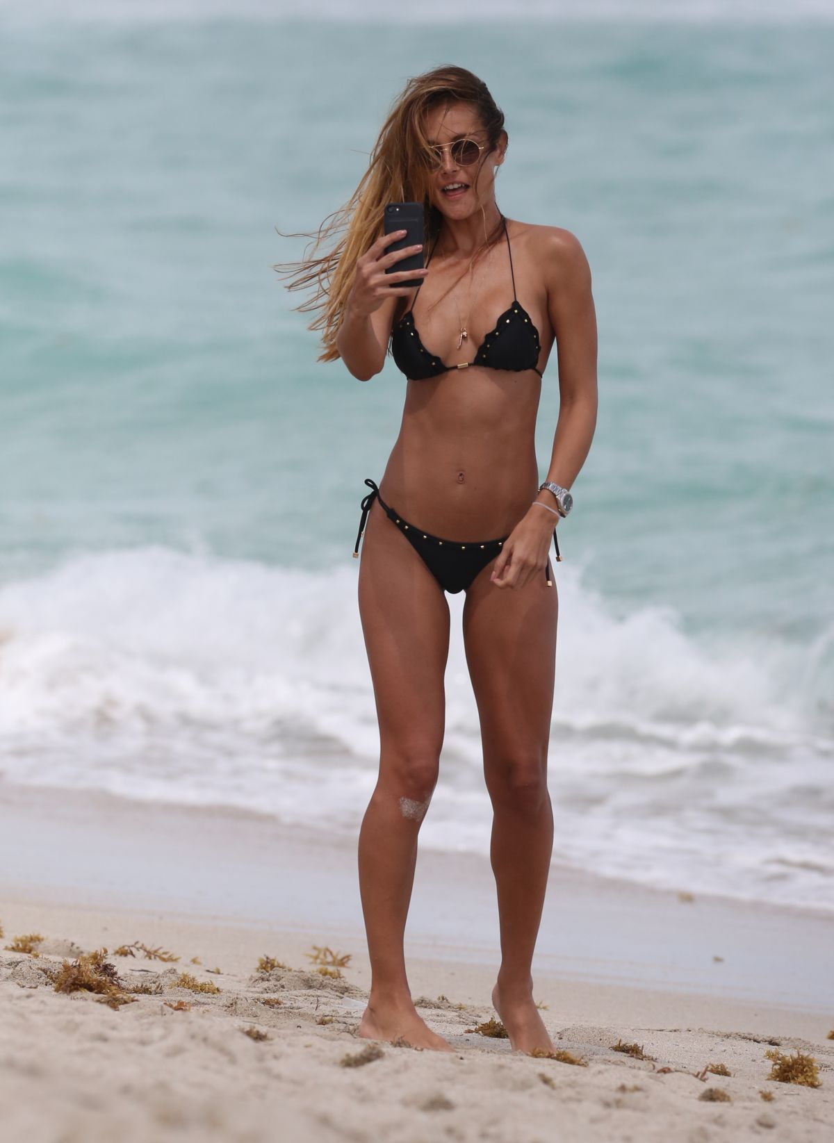 NATALIA BORGES In Bikini on the Beach in Miami 03/25/2017