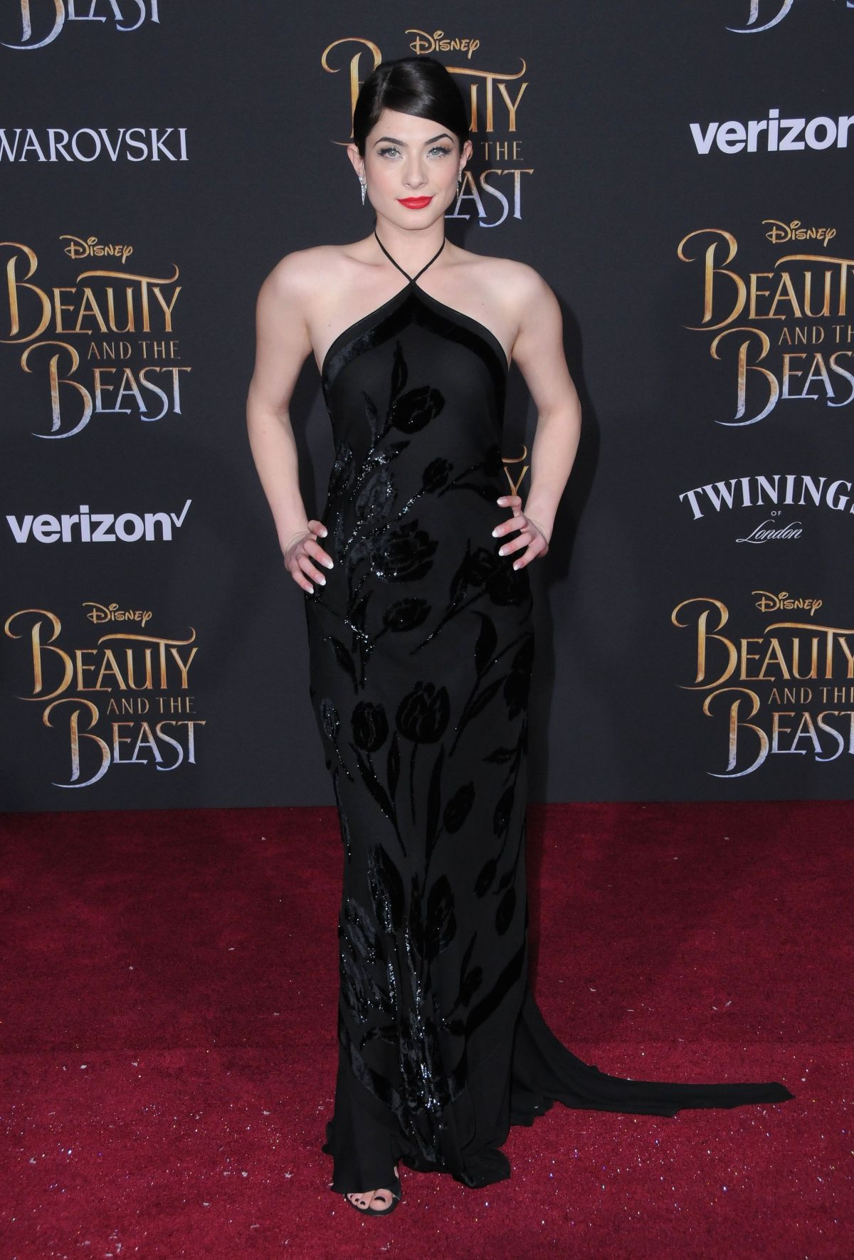 NIKKI KOSS at Beauty and the Beast Premiere in Los Angeles 03/02/2017