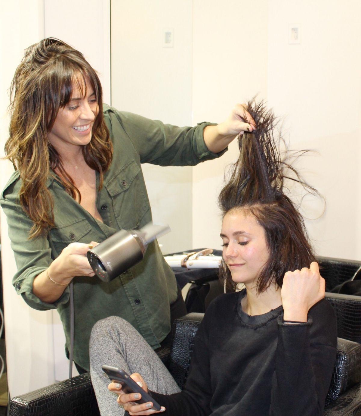 Nina Dobrev Had Her Hair Cut Right Before Oscars 2017