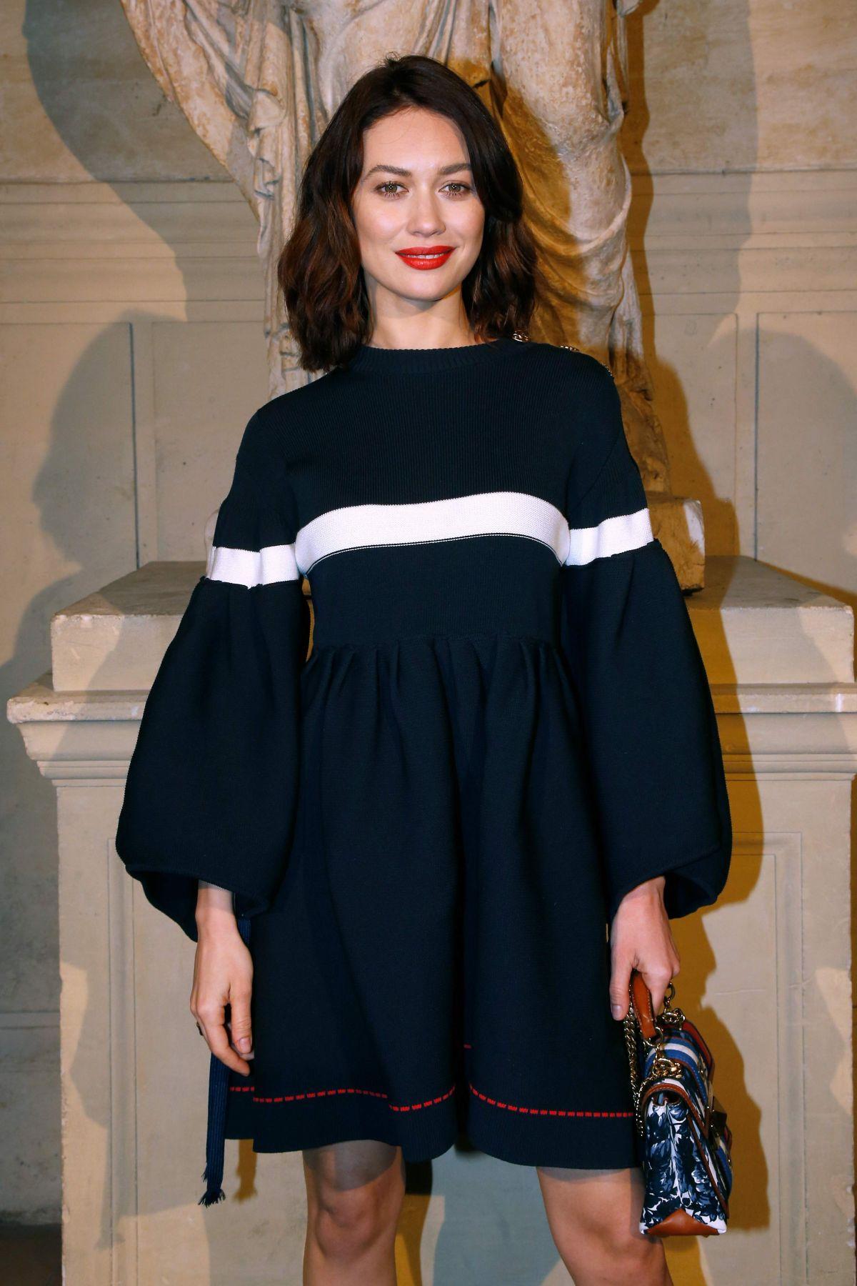 OLGA KURYLENKO at Sonia Rykiel Fashion Show in Paris 03/04/2017