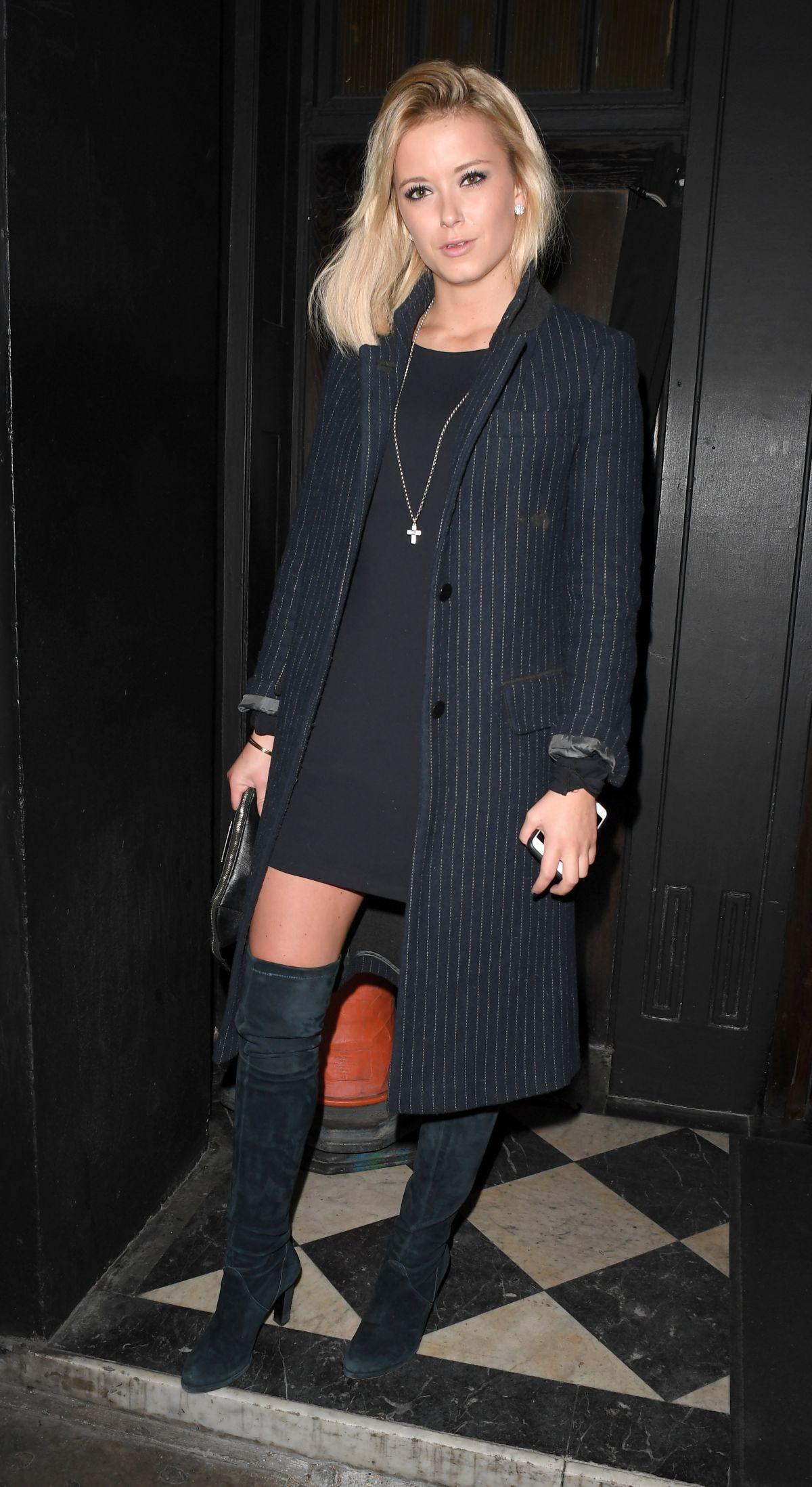 OLIVIA BENTLEY Arrives at Raffles Night Club in London 03/02/2017