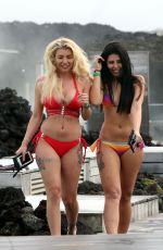 OLIVIA BUCKLAND and CARA DE LA HOYDE in Bikinis at Blue Lagoon Spa in Iceland 03/12/2017