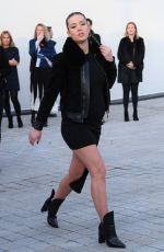 Pregnant ADELE EXARCHOPOULOS at Louis Vuitton Fashion Show in Paris 03/07/2017