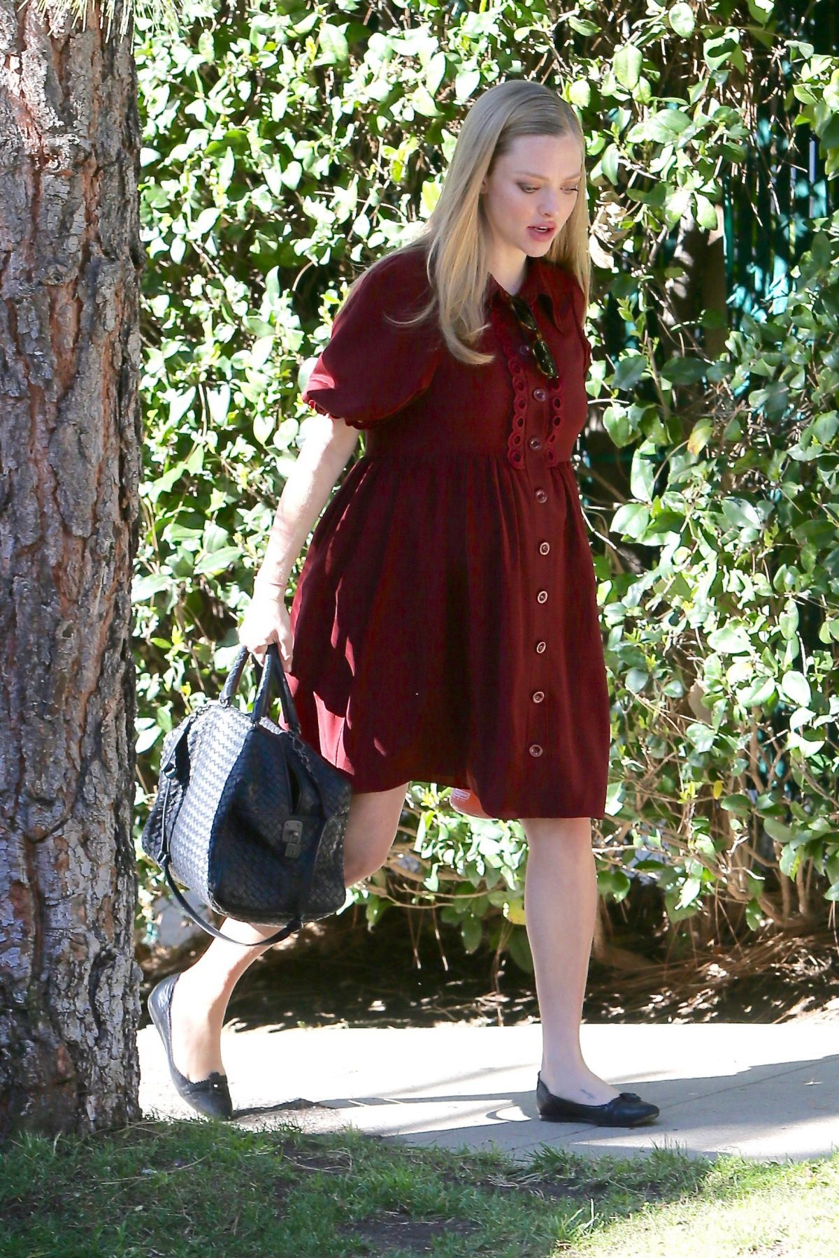 Pregnant AMANDA SEYFRIED Out and About in Los Angeles 03/03/2017