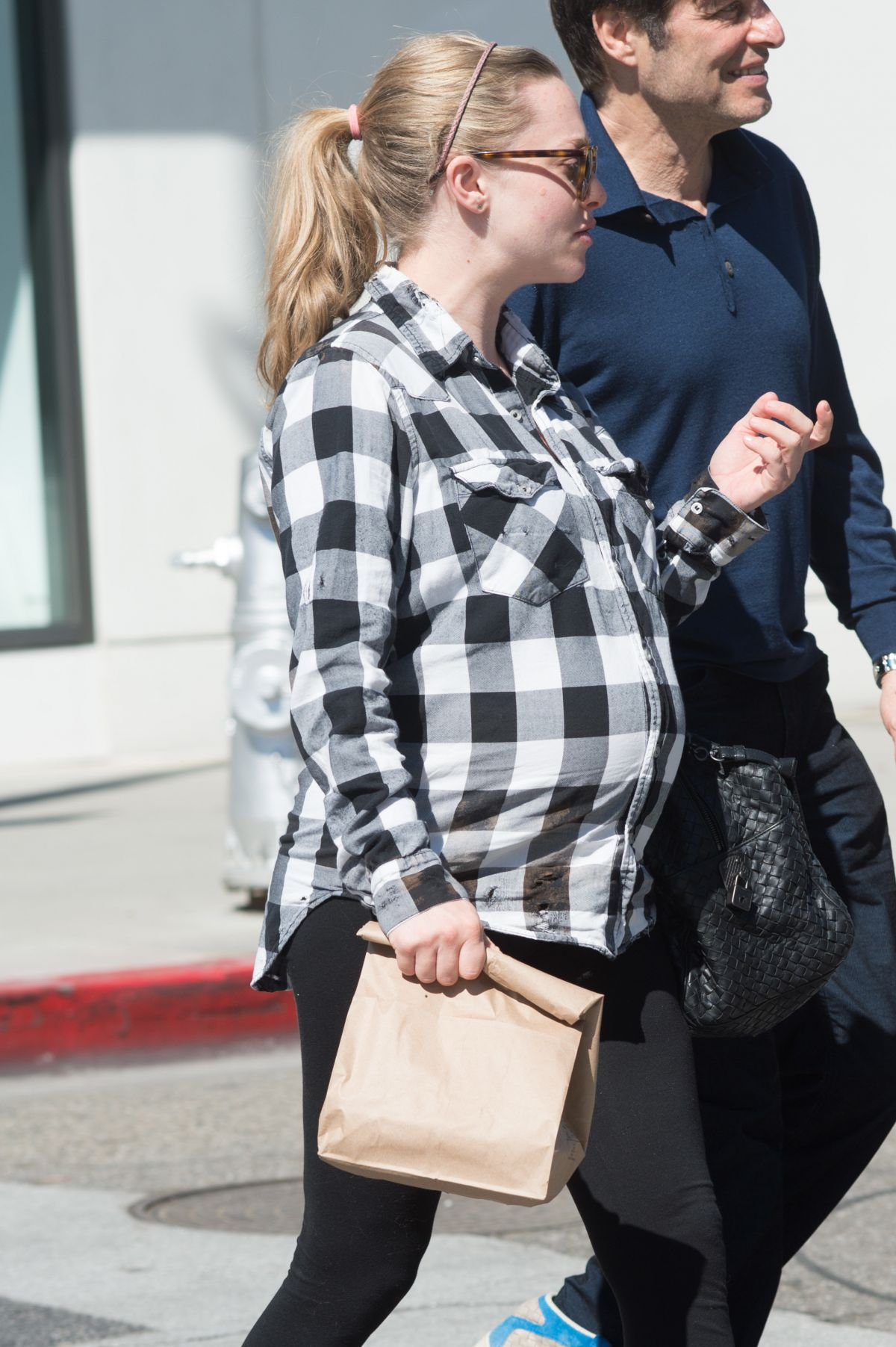 Pregnant AMANDA SEYFRIED Out in Los Angeles 02/28/2017