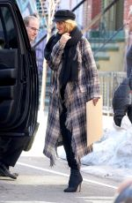 Pregnant ROSIE HUNTINGTON-WHITELEY Out and About in New York 03/19/2107