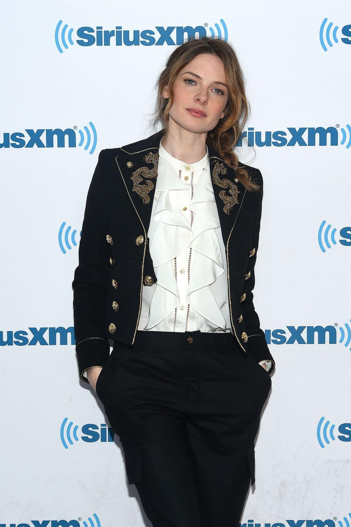 REBECCA FERGUSON at SiriusXM Studios in New York 03/20 ...