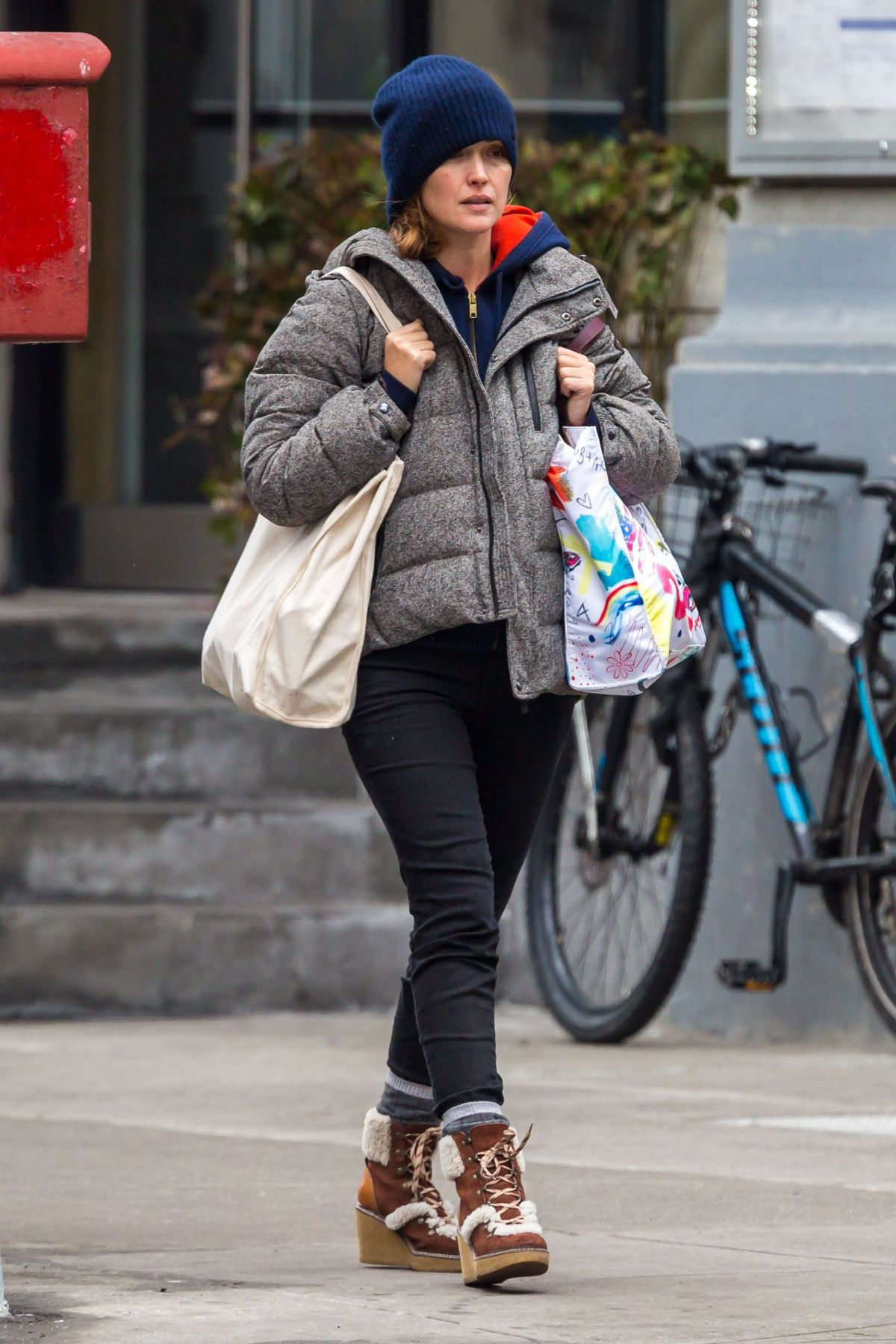ROSE BYRNE Out Shopping at Whole Foods in New York 03/27/2017