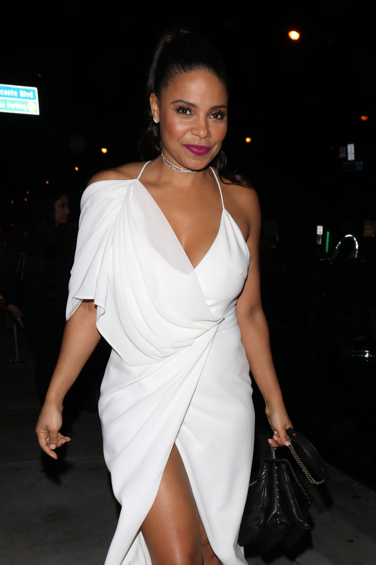 SANAA LATHAN at Catch LA in West Hollywood 03/16/2017