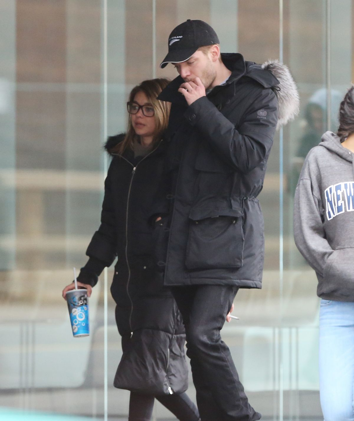 SARAH HYLAND and Dominic Sherwood Leaves Scotia Bank Theatre in Toronto 03/26/2017