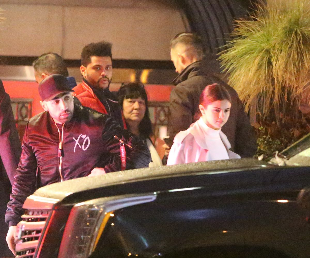 SELENA GOMEZ and The Weeknd Night Out in Toronto 03/18/2017