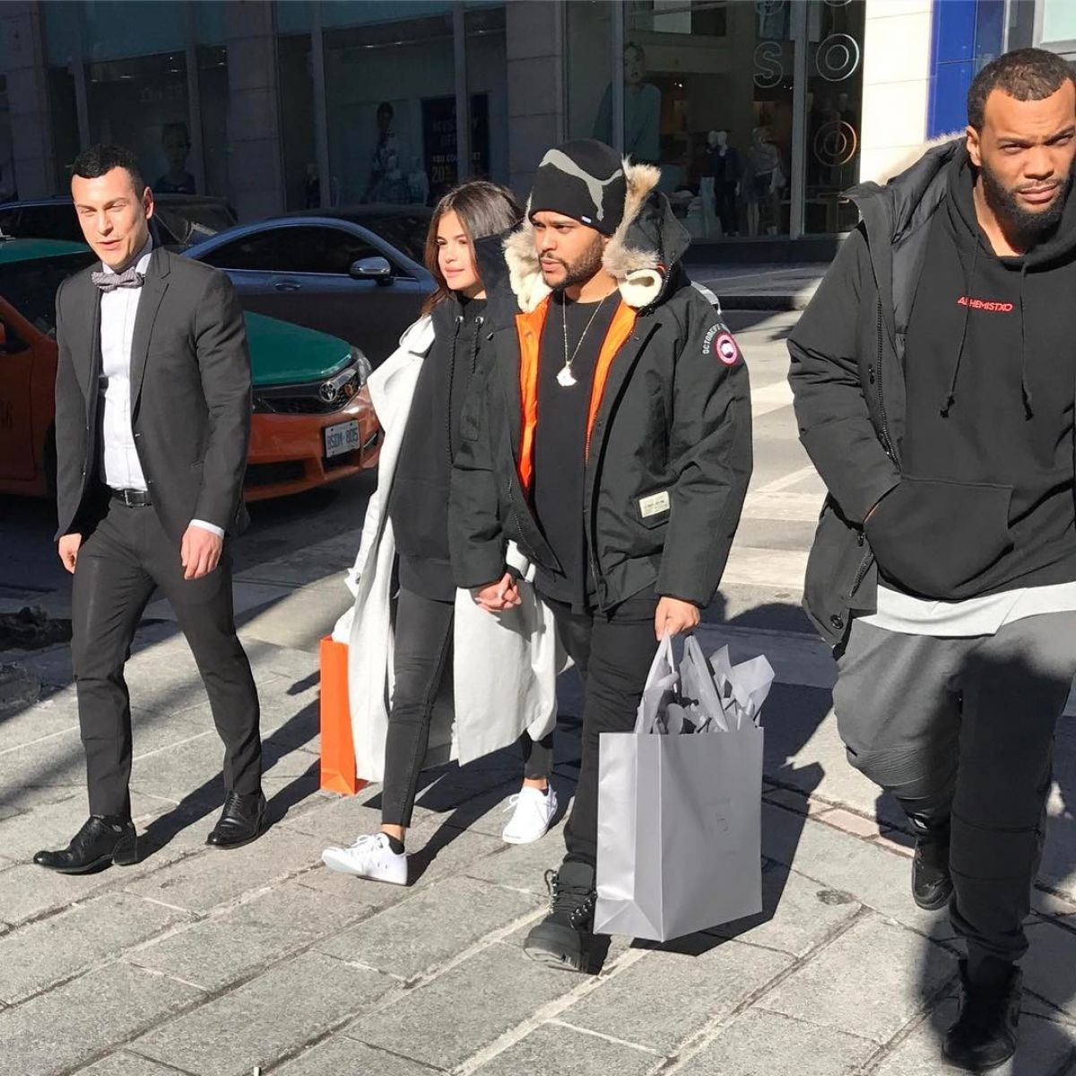 SELENA GOMEZ and The Wweeknd Out in Toronto 03/16/2017