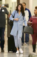 SELENA GOMEZ Arrives at Airport in Atlanta 03/01/2017