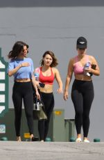 SELENA GOMEZ in Leggings Heading to Pilates Class in Los Angeles 03/14/2017