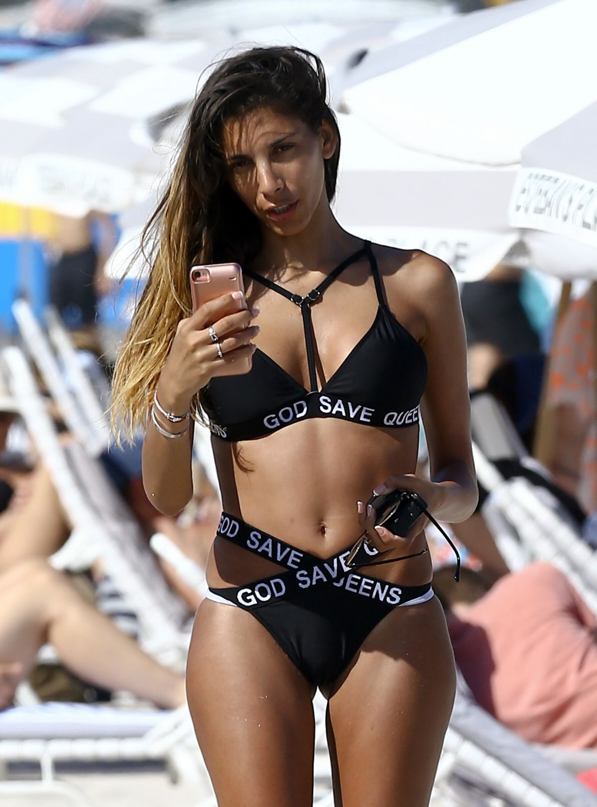 SONIA TLEV in Bikini at a Beach in Miami 03/11/2017