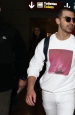 SOPHIE TURNER and Joe Jonas at Airport in Paris 03/06/2017