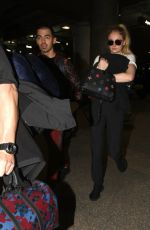 SOPHIE TURNER and Joe Jonas at LAX Airport in Los Angeles 03/05/2017