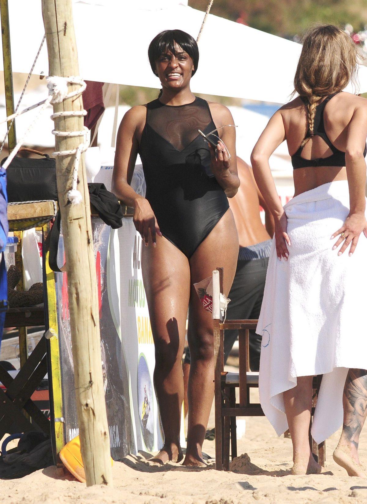 STEPHANIE MATHIS in Swimsuit on the Beach in Punta Del Este 03/01/2017
