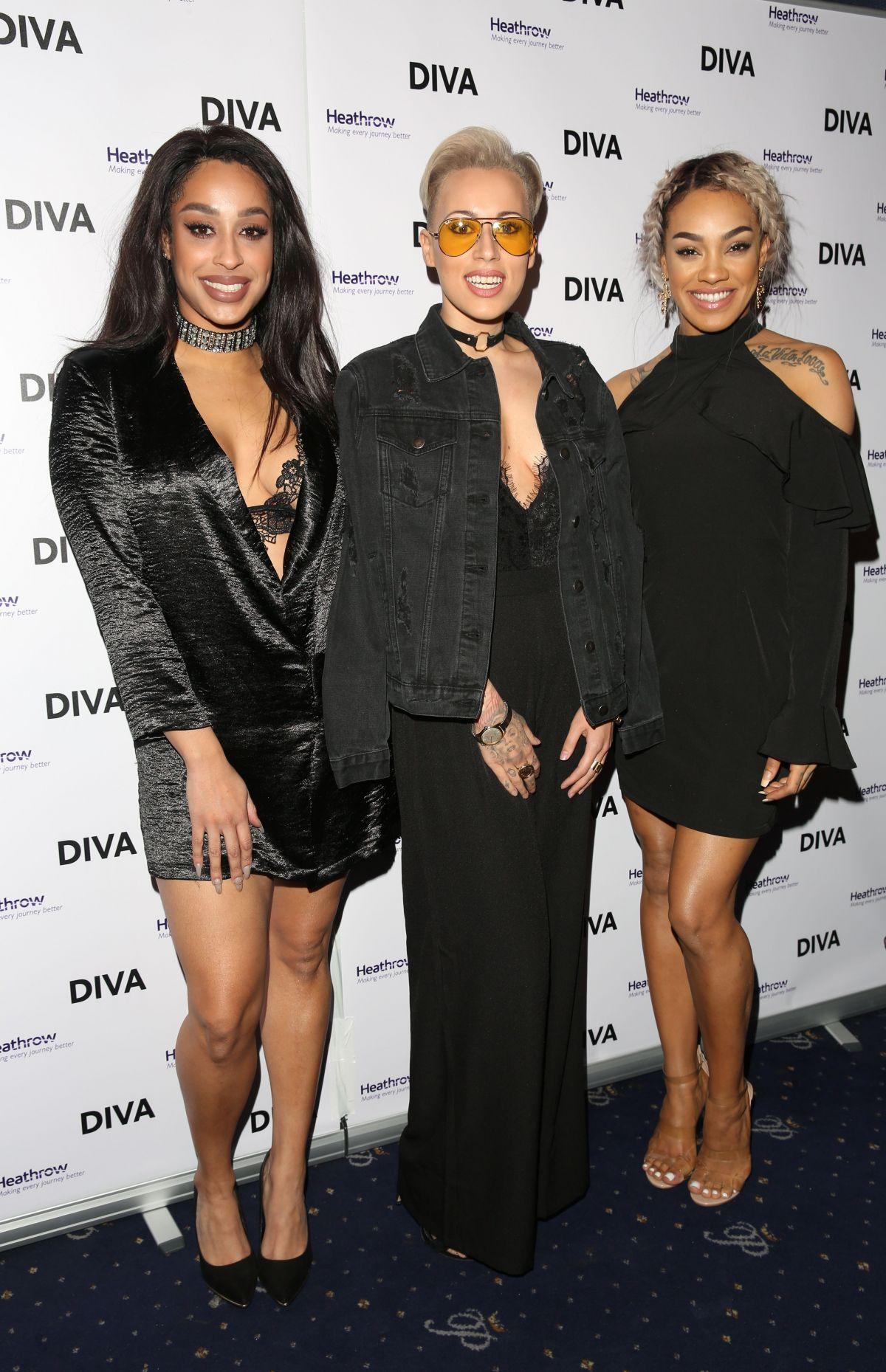 STOOSHE at Diva Magazine Awards in London 03/23/2017