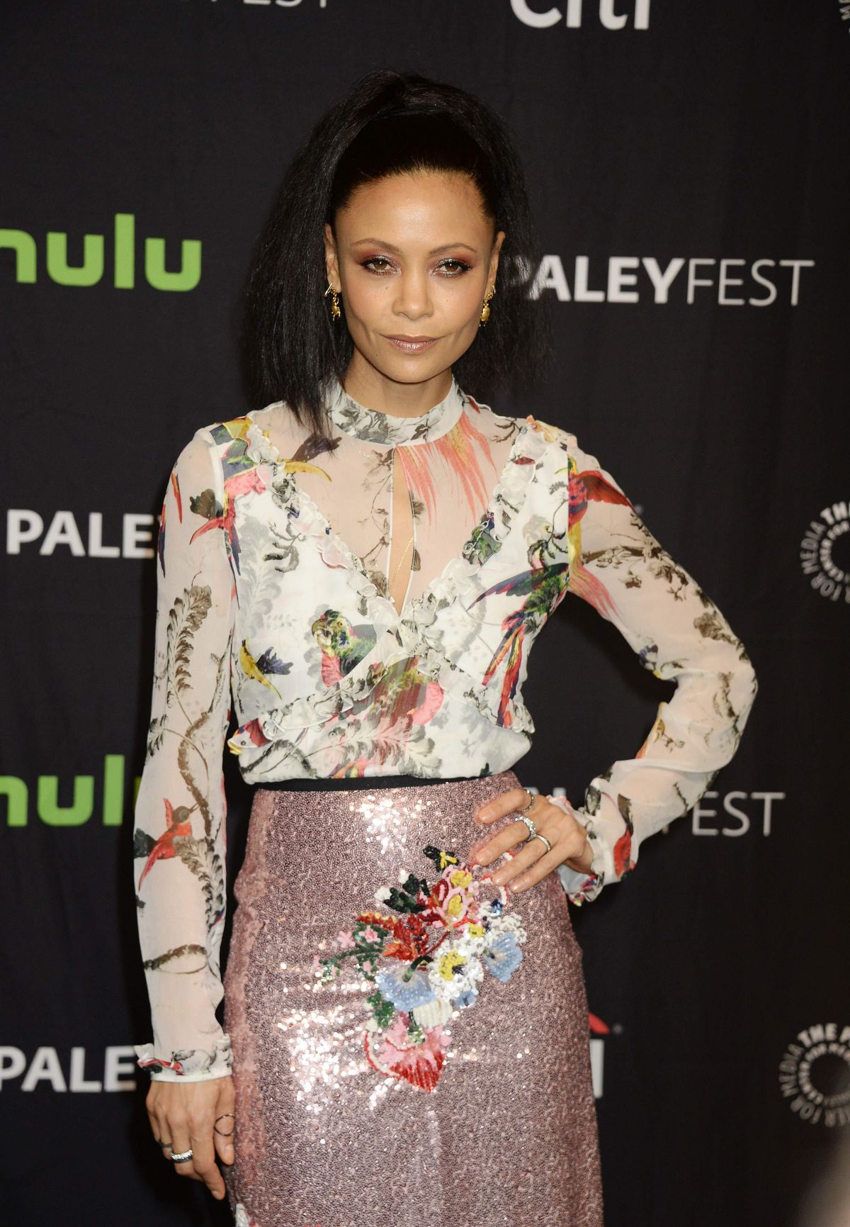 THANDIE NEWTON at Westworld Screening at Paleyfest in Los Angeles 03/25/2017