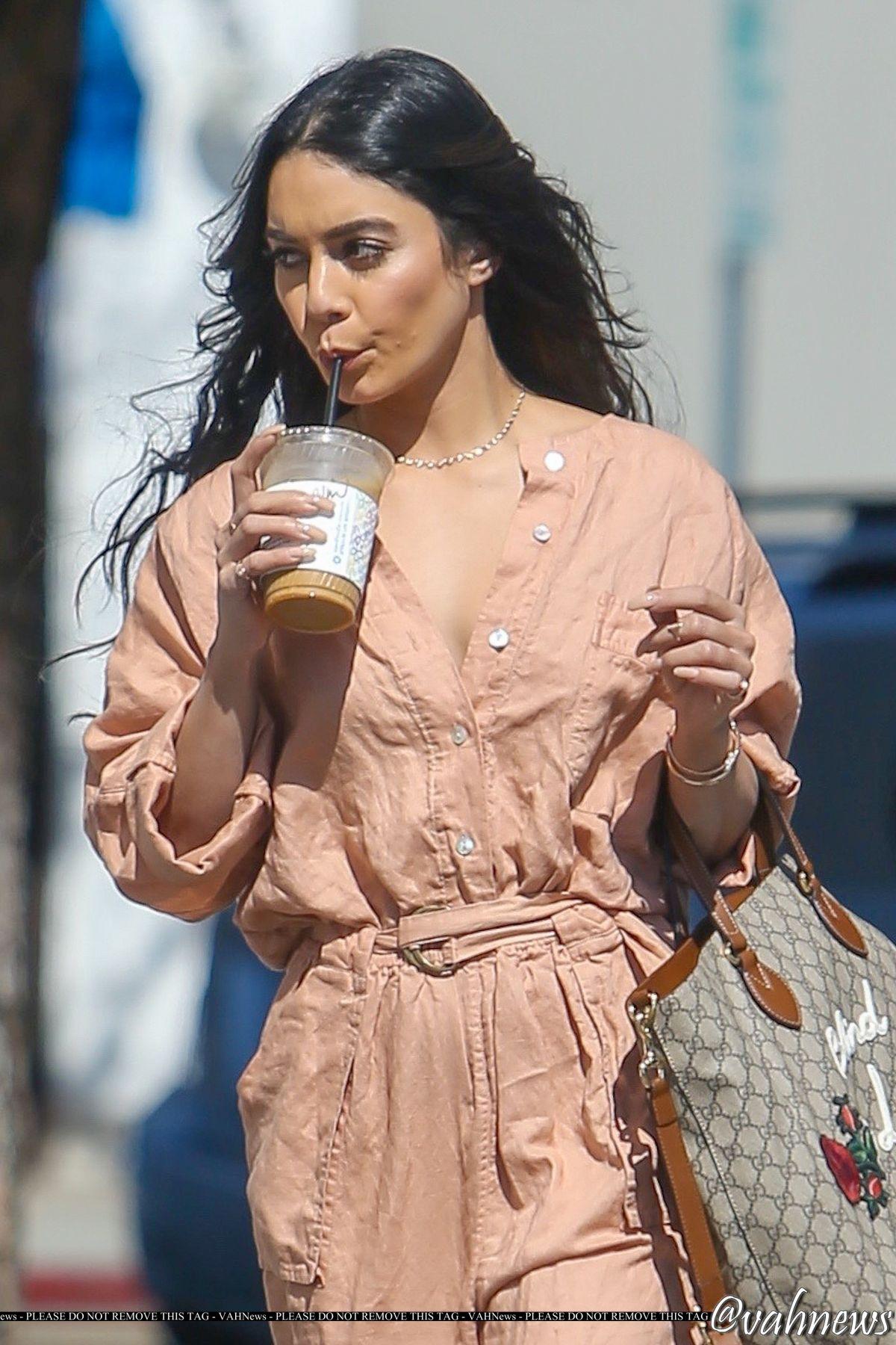 VANESSA HUDGENS at Alfred JKitchen in Los Angeles 03/24/2017