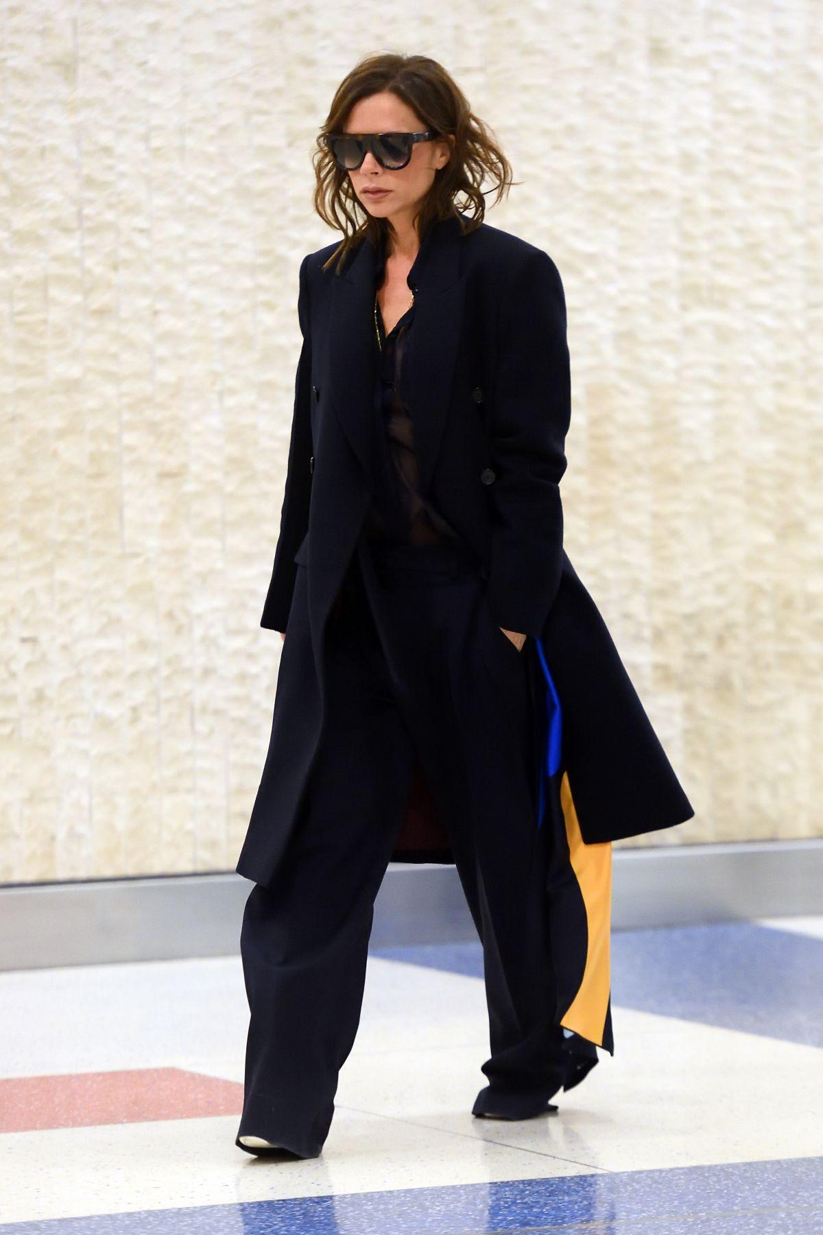 VICTORIA BECKHAM at JFK Airport in New York 03/13/2017 ... Victoria Beckham