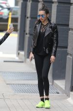 ADRIANA LIMA Arrives at a Gym in New York 04/23/207
