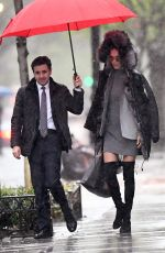 ADRIANA LIMA Out and About in New York 04/19/2017
