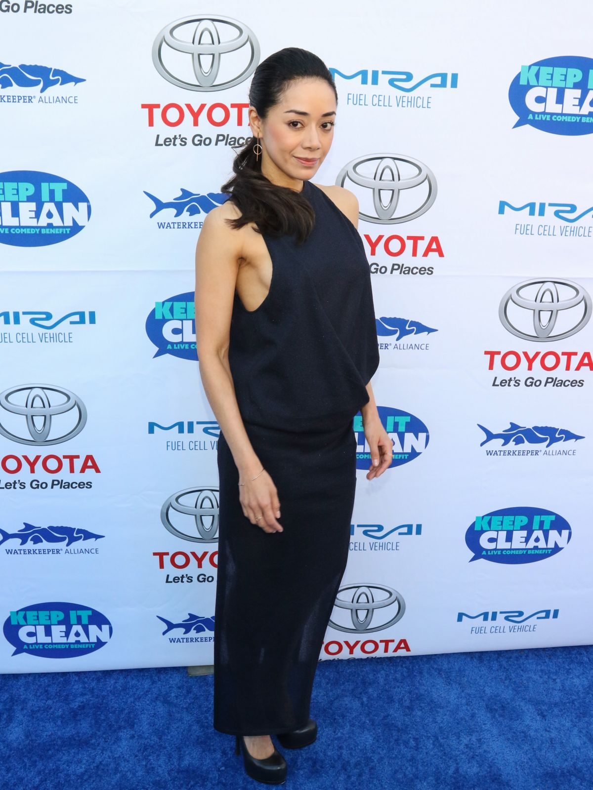 AIMEE GARCIA at Keep It Clean Comedy Benefit in Los Angeles 04/21/2017