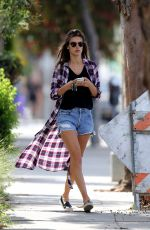 ALESSANDRA AMBROSIO in Denim Shorts Out in Los Angeles 04/24/2017