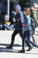 ALISON BRIE and Dave Franco Out and About in New York 04/08/2017