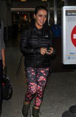 ALYSSA MILANO at Los Angeles International Airport 04/04/2017