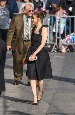 AMANDA PEET Arrives at Jimmy Kimmel Live in Los Angeles 04/03/2017