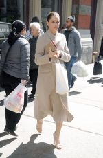AMANDA PEET Out for Lunch at Dean & DeLuca in New York 04/05/2017