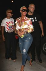 AMBER ROSE Arrives at Catch LA in West Hollywood 04/28/2017