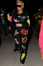 AMBER ROSE at Neon Carnival at Coachella Festival 04/15/2017