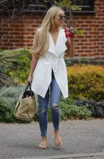 AMBER TURNER Out and About in London 04/13/2017