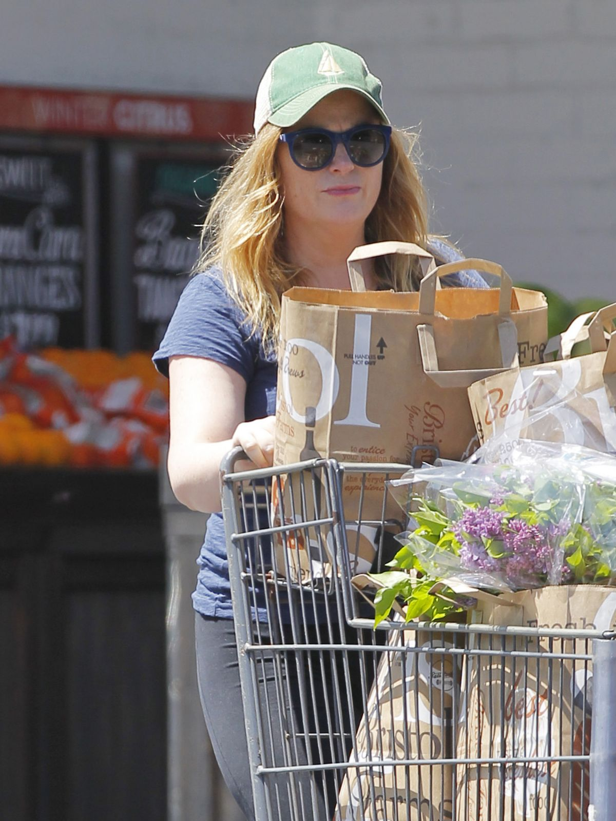 AMY POEHLER Shopping at Bristol Farms in West Hollywood 04/23/2017